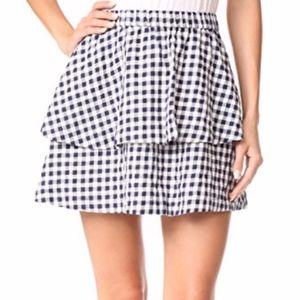 Madewell Gingham Tier Mini Skirt